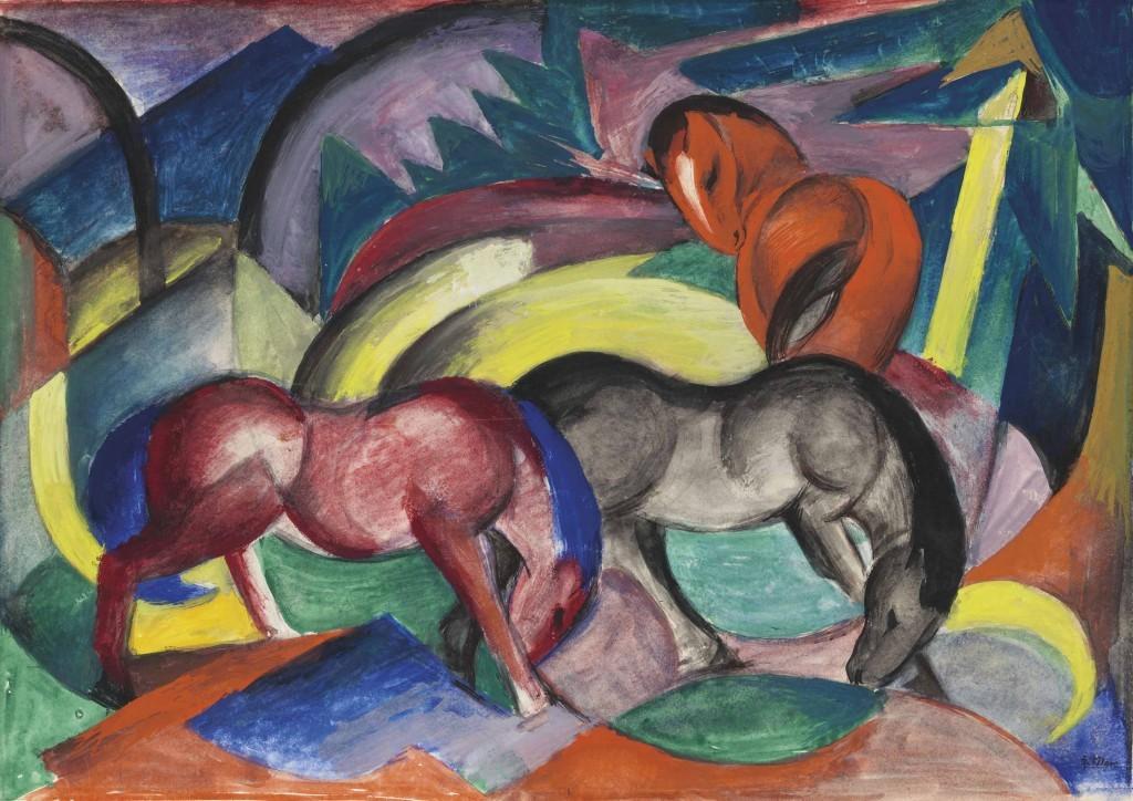 Franz Marc, Drei Pferde, 1912 | Abb.: ©Christie's