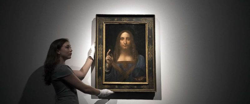 Salvator Mundi av Lenoardo da Vinci. Bild Christie's