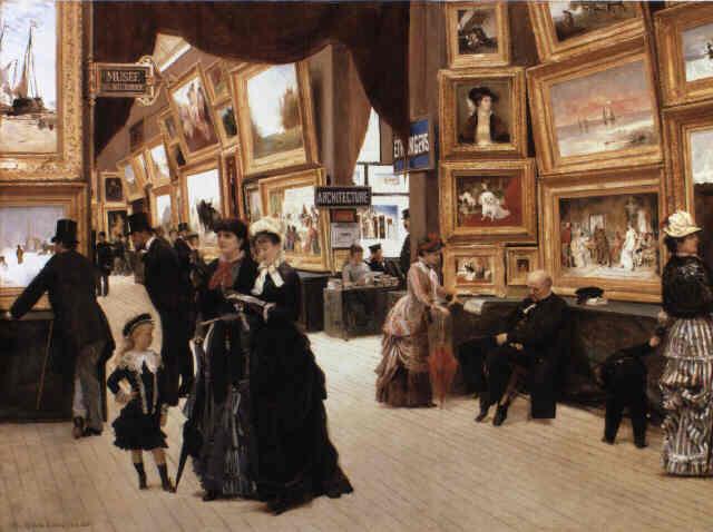 "Édouard Joseph Dantans, ""Un Coin du Salon en 1880"". Foto via Wikipedia."
