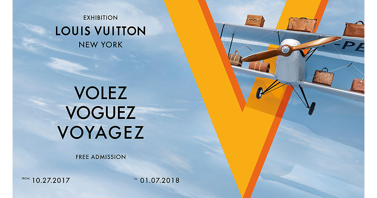 Utställningen Volez, Voguez, Voyagez när den öppnade i New York. Bild: Louis Vuitton