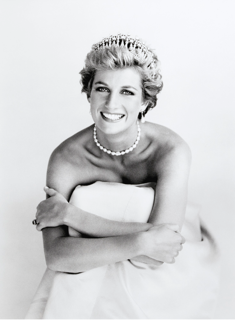 Patrick Demarcheliers fotografi av prinsessan Diana år 1990. Foto: Sotheby's.