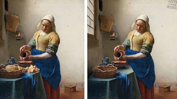Även om Johannes Vermeers målning heter Mjölkjungfrun så har gluten en högst centrerad plats i kompositionen