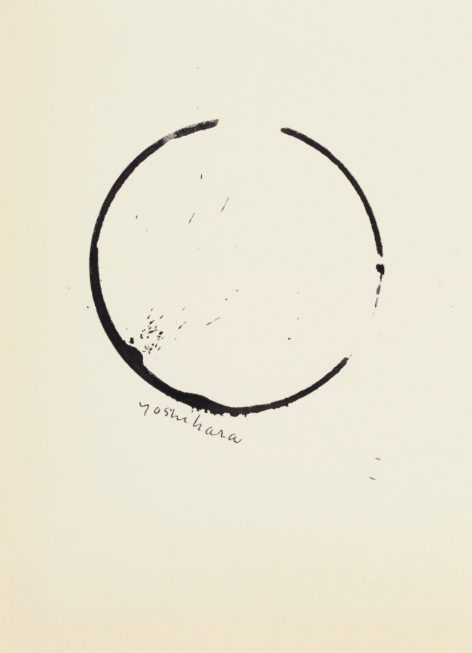 Jiro Yoshihara's Untitled (Circle) ink on paper work