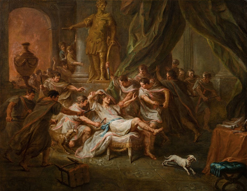 MARTIN JOHANN SCHMIDT gen. KREMSER SCHMIDT (Grafenwörth 1718 - 1801 Stein) - Ermordung Caesars, Öl/Lwd., 95 x 118 cm, signiert und datiert, 1788 Schätzpreis: 50.000-100.000 EUR