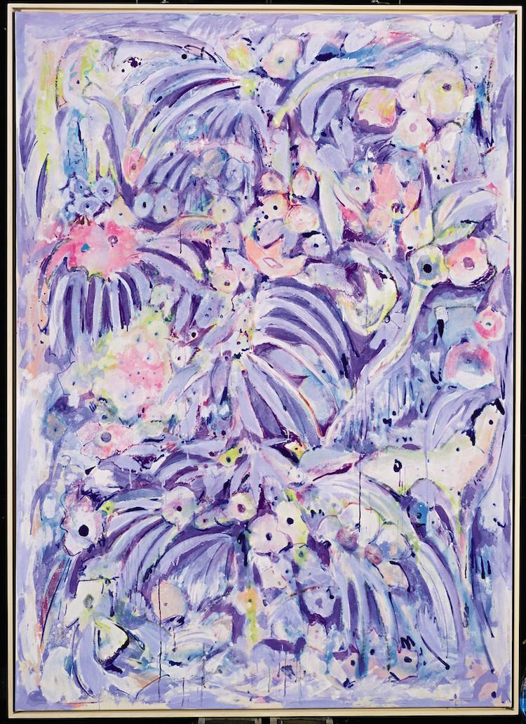 """Ett av verken, """"Snowy Meadow"""", som visas på Sotheby´s i New York till och med 5 augusti"""