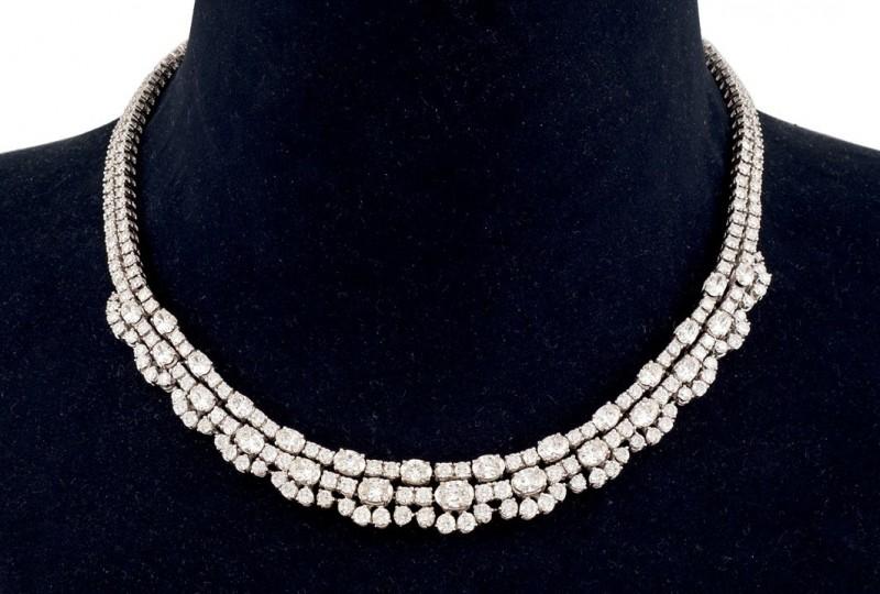 Halsband i guld med diamanter. Foto: Durán Arte y Subastas.