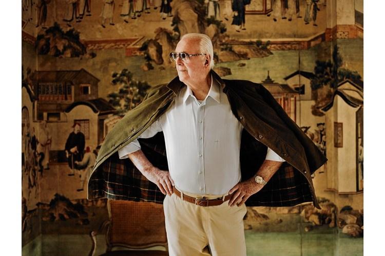 Hubert de Givenchy at Chateau de Jonchet. Image via Reviving Charm