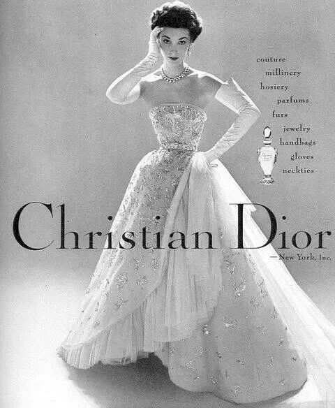 A Dior ad from 1952