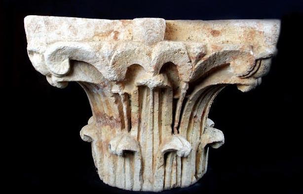 Paire de chapiteaux corinthiens en calcaire, IIe siècle