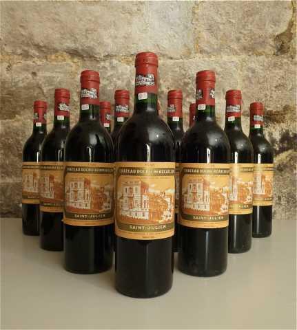 12 bouteilles de Chateau Ducru-Beaucaillou, Saint-Julien, 1986 Prunier Auction