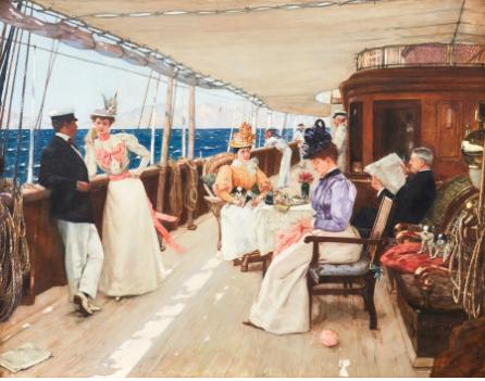 "Henri Gervex (France 1852‑1929) ""Yachting in the Archipelago"""