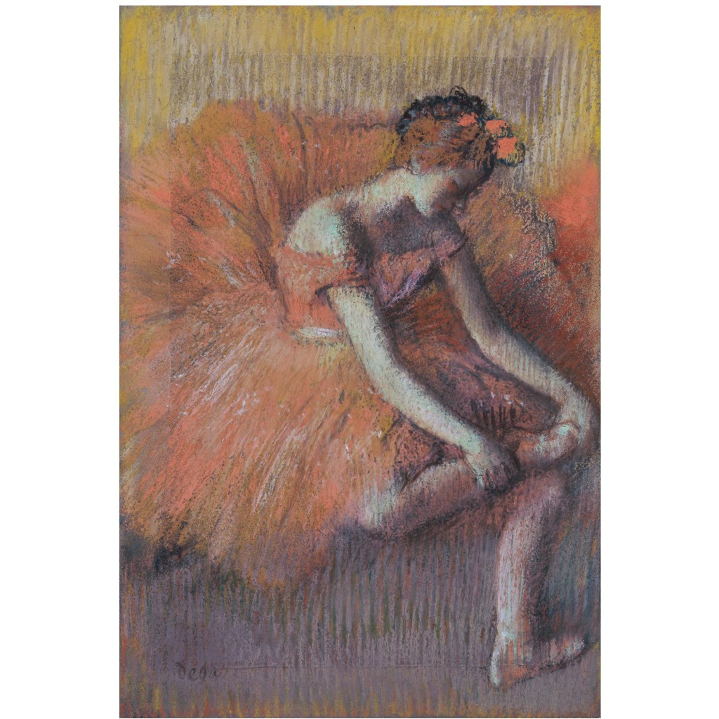 Edgar Degas, Danseuse rajustant sa sandale, vendu 6 820 000 euros chez Sotheby's en 2008
