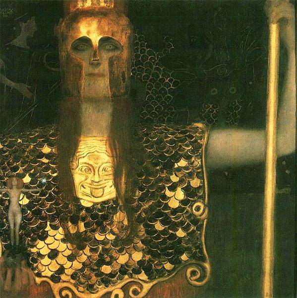 Gustav Klimt, Pallas Athene, 1898 Image via Klimt Museum