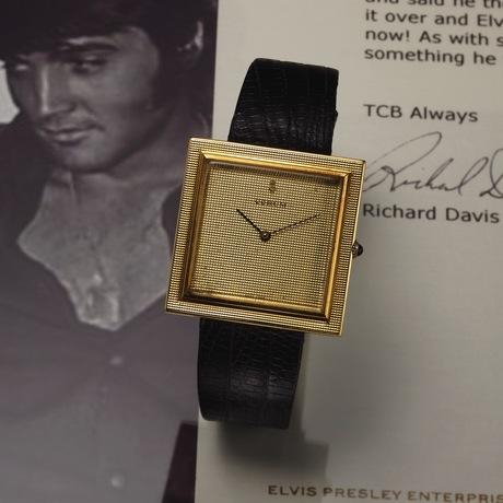 "Wristwatch worn by Elvis and gifted to Richard Davis. Corum, ""Buckingham"", No. 50602, Ref. 5971. Made circa 1960."