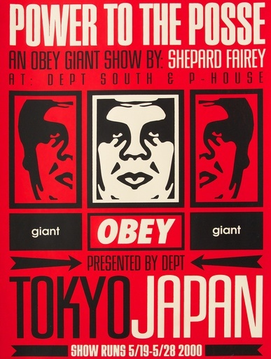 Tokyo Show, Shepard Fairey. Screentryck. Foto: Paddle 8.