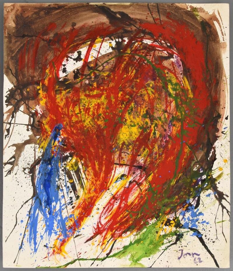 ASGER JORN. Pintura original (1962)