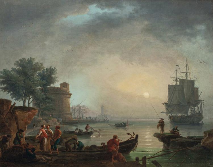 Claude Joseph Vernet, 1700-tal, 65x81 cm. Lot: 199. Utrop: 603.000 SEK