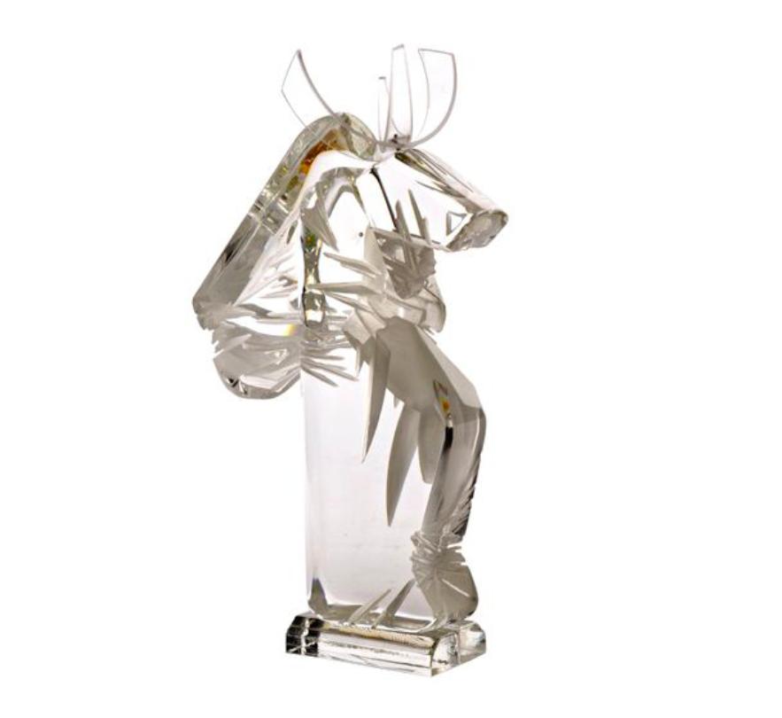 Monica Damian Eyrignoux, sculpture « Cal (cheval à cornes) », image ©Villandray & Associés