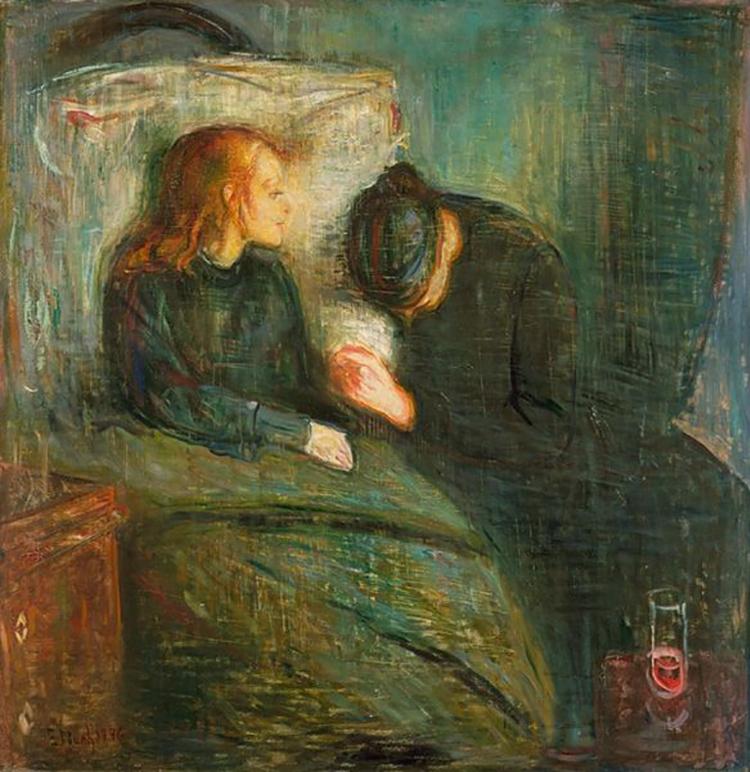 Den sjuka flickan 1885-1886.