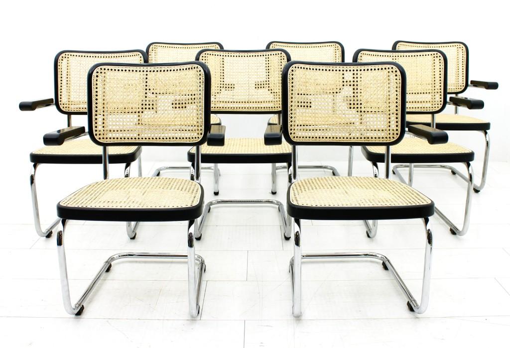 "MART STAM 8 Lobby Chairs ""S 67 F"", THONET inside-room"