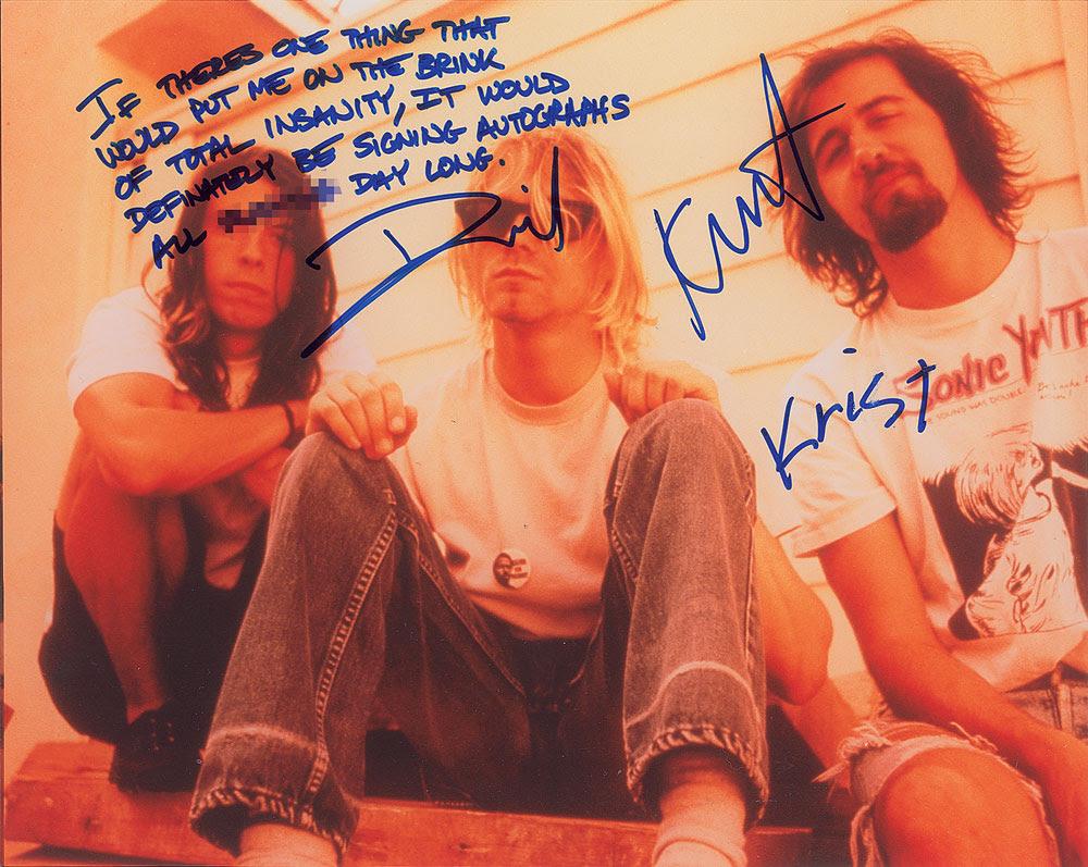 Nirvana signed photo
