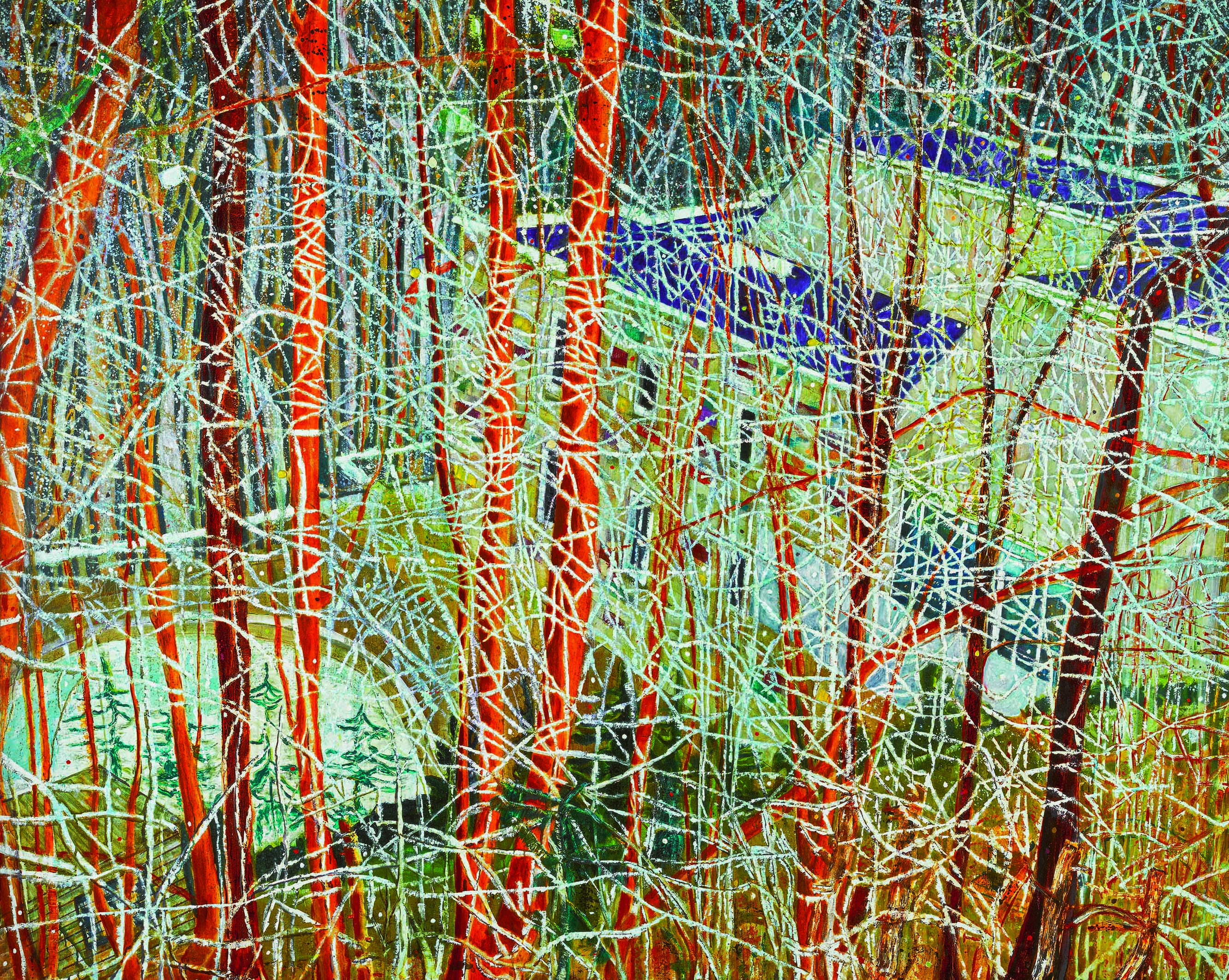 Peter Doig, The Architect's Home in the Ravine (1991), 200x250cm Image via Sotheby's
