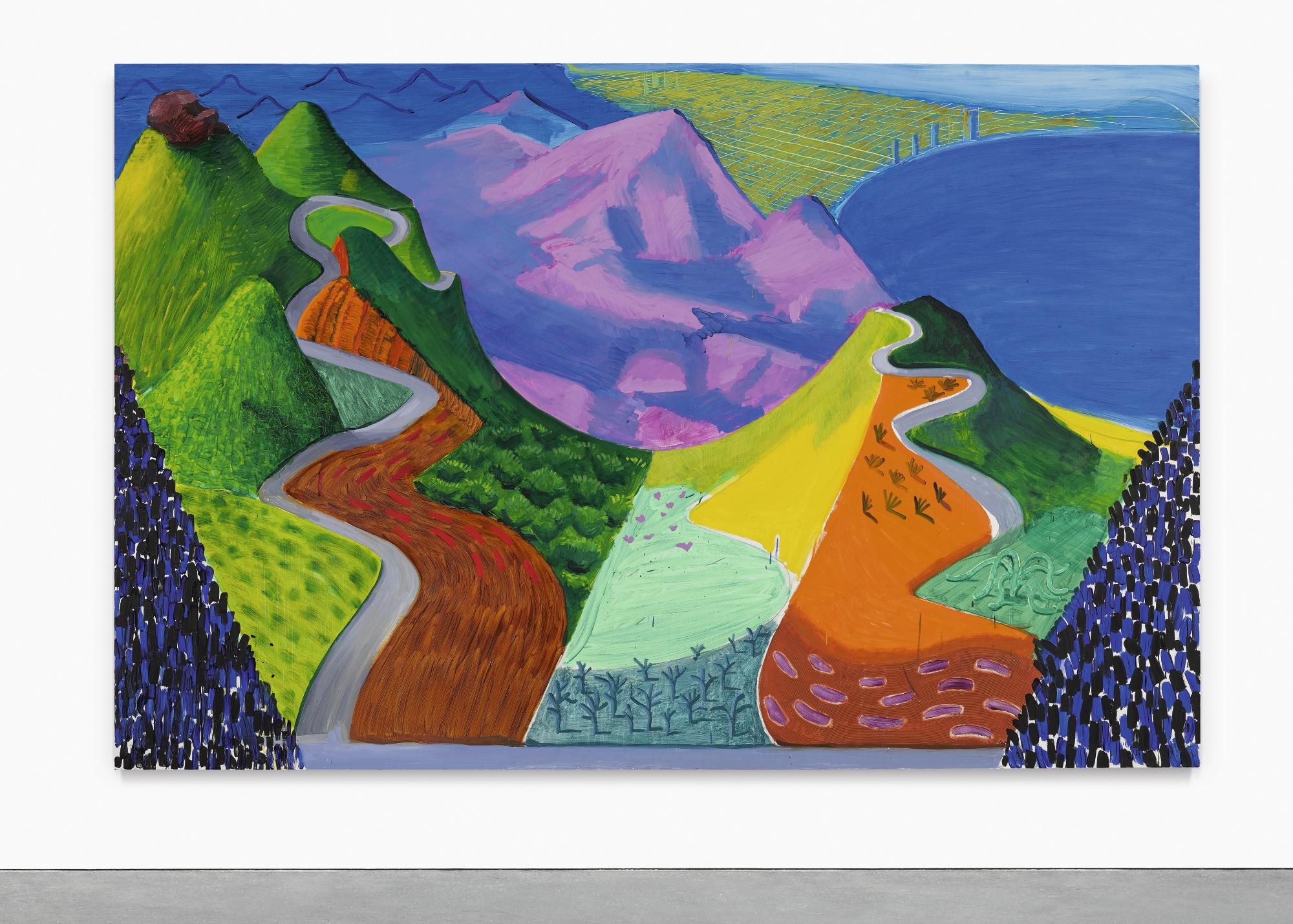 David Hockney, Pacific Coast Highway and Santa Monica, 1990 | Abb.: ©Sotheby's