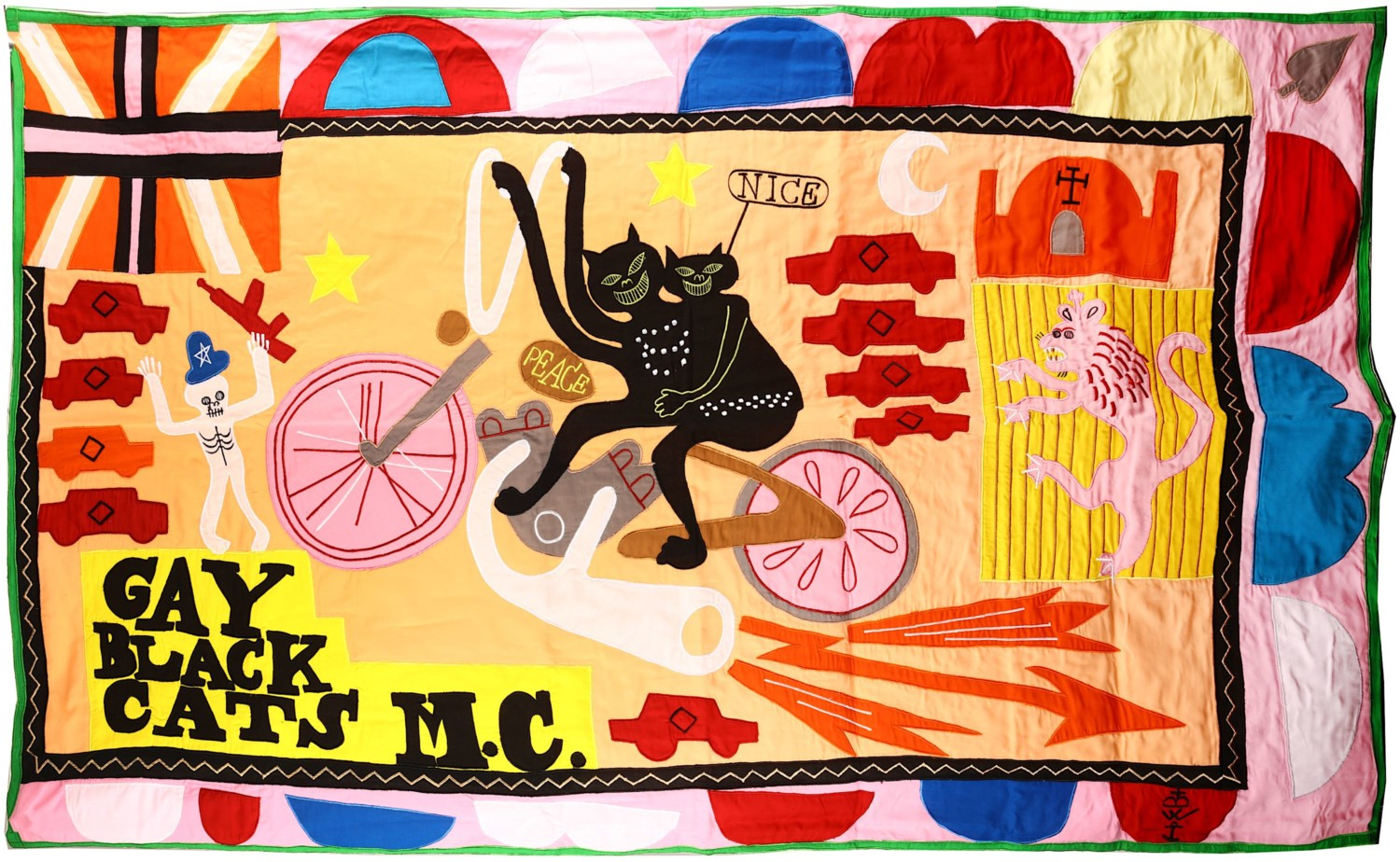 Grayson Perry, Gay Black Cats MC, 2017. Photo: Chiswick Auctions