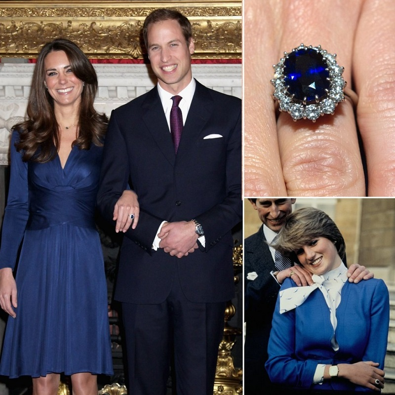 Anillo de compromiso de Lady Di y Kate Middleton