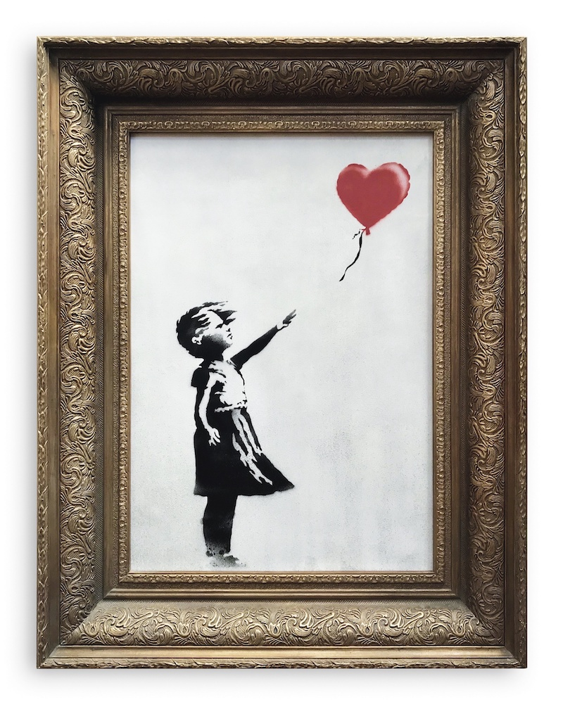 """""""Girl with balloon"""", Banksy. Photo: Sotheby´s"""