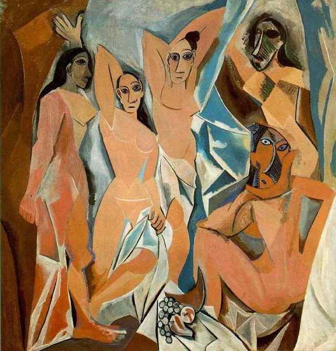 """Demoiselles d'Avignon "", målad år 1907. Foto: pablopicasso.org."