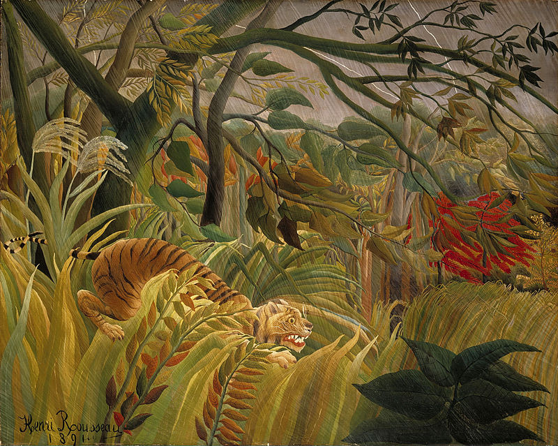 Henri Rosseau, Surpris!, 1891Image: National Gallery