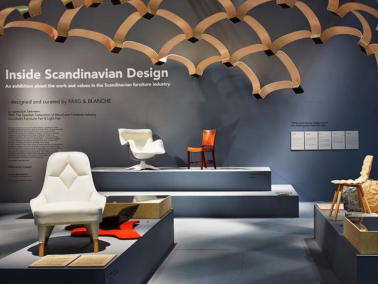 Utställningen Inside Scandinavian Design på Stockholm Furniture Fair. Ett samarbete med TMF, Stockholmsmässan och Färg & Blanche.