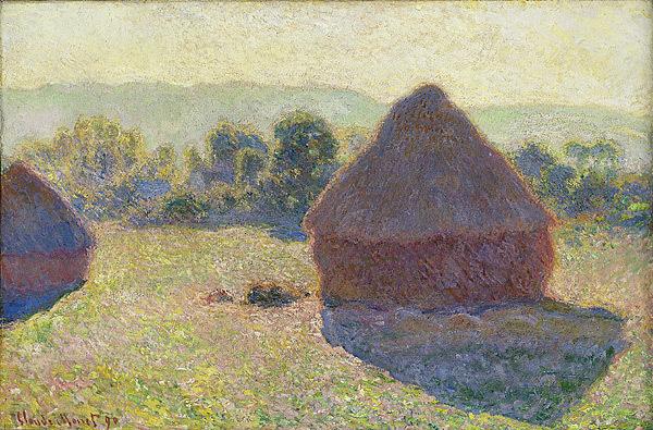 Claude Monet, Getreideschober, Mittag, 1890 (National Gallery of Australia)
