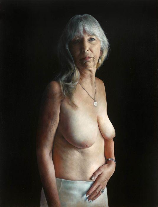 ANNE-CHRISTINE RODA - Nadine C., olio su tela, firmato, 2015