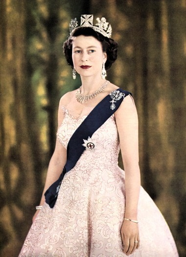 Queen Elizabeth wearing the Jaeger-LeCoultre Calibre 101 model, the smallest calibre watch ever made to this day