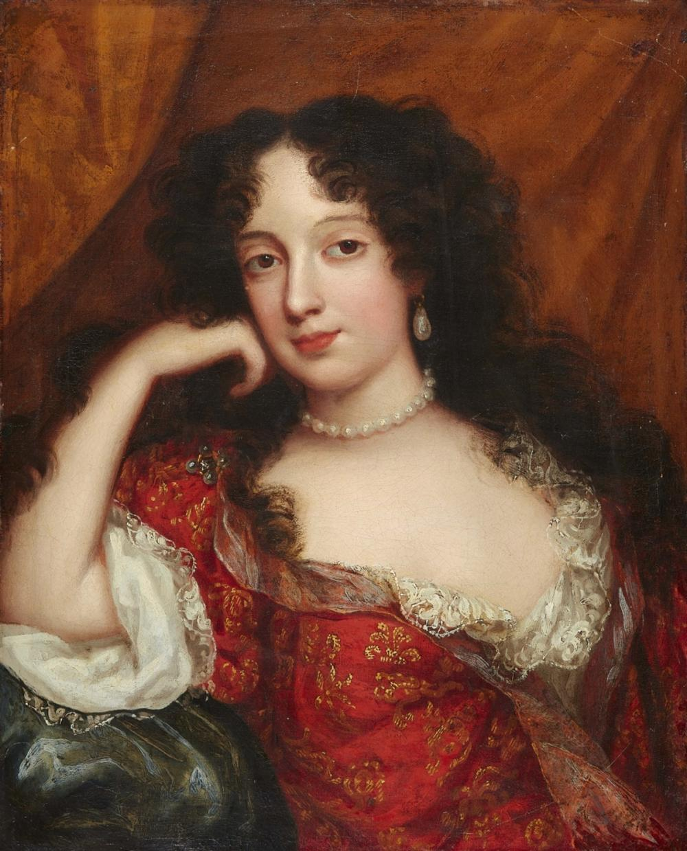 Französische Schule des 17. Jahrhunderts, Wohl Portrait von Marie Casimire Louise de la Grange d'Arquien, spätere Königin von Polen, Öl/Lwd. | Foto: Lempertz