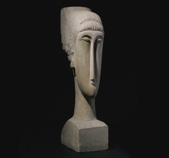 Tête, Amadeo Modigliani. Foto: Christie's.