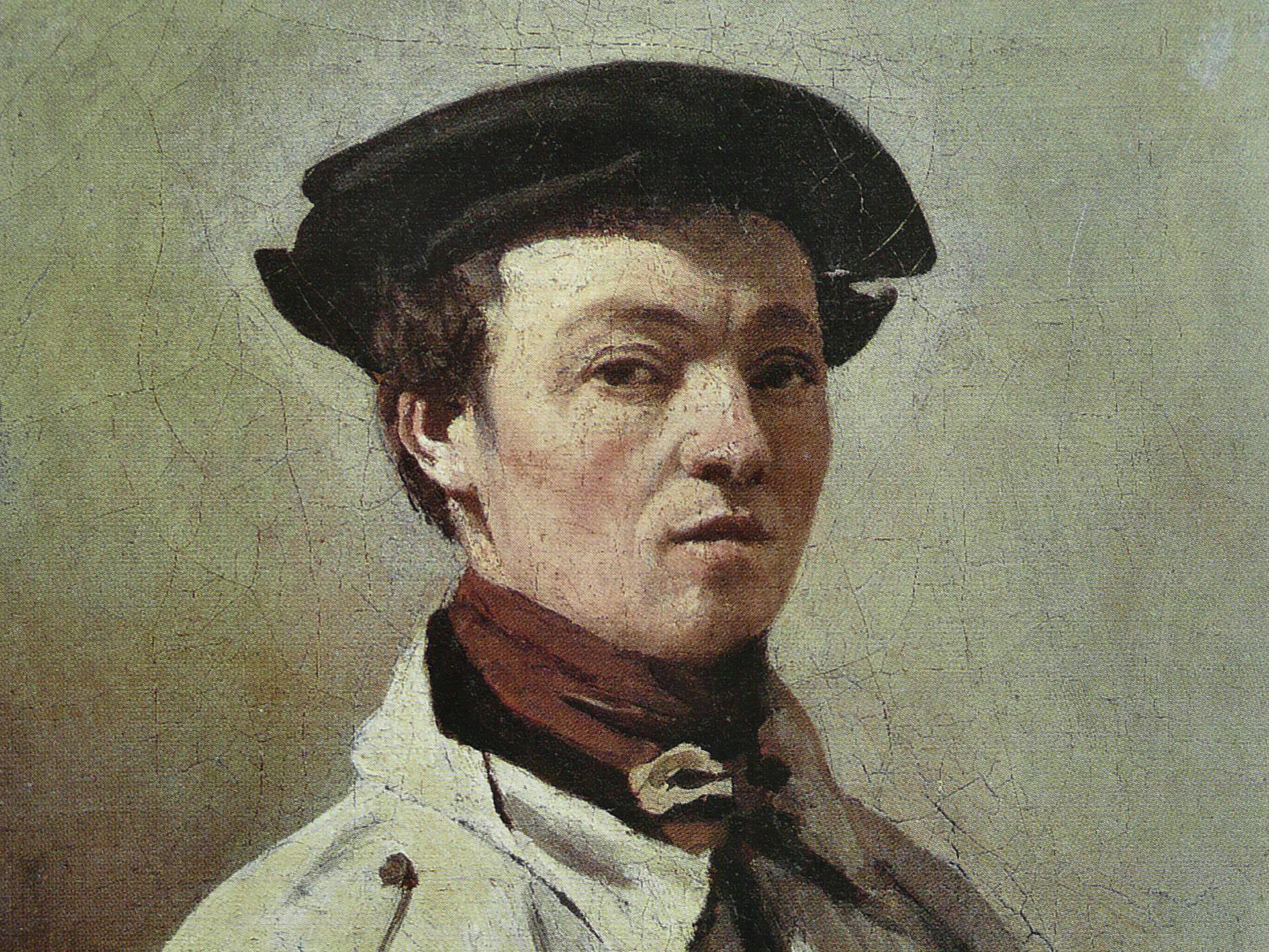 Jean-Baptiste Corot, « Autoportrait » ou « Corot, la palette à la main », image Wikipedia