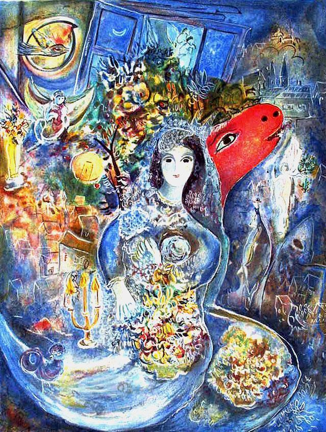 Bella par Chagall Image via icollector.com