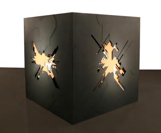 Marc C. Woehr - N 41.376680 E 2.187760, 2016 Bois, 200 x 200 x 200 cm