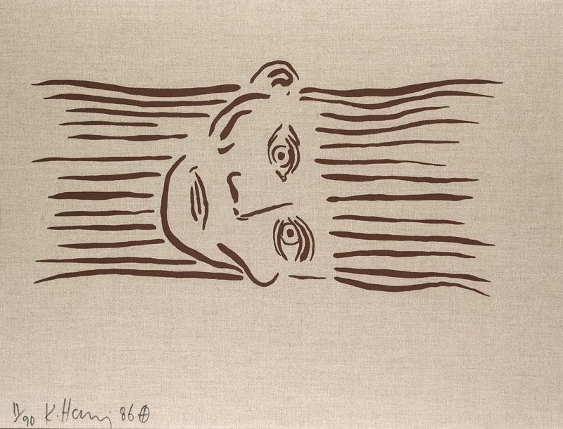 Keith Haring, Portrait of Joseph Beuys, 1986, Serigraphie auf Leinwand, signiert Schätzpreis: 6.000 EUR Jeschke Van Vliet Auctions Berlin
