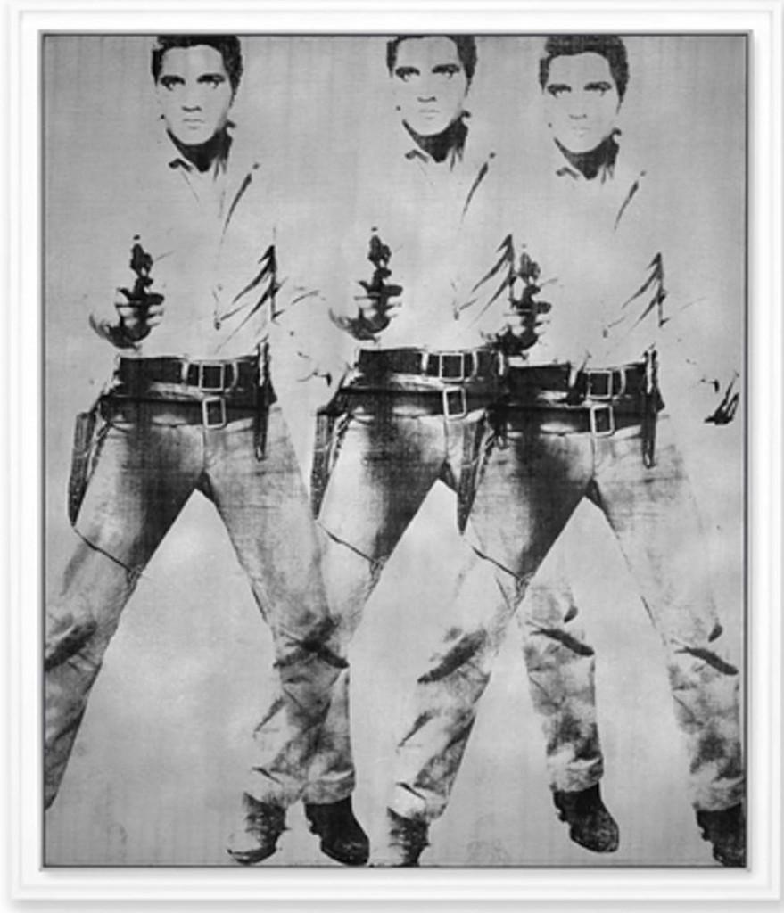 Triple Elvis, vendu chez Christies en novembre 2014 pour 81 925 000 USD, image ©Christie's