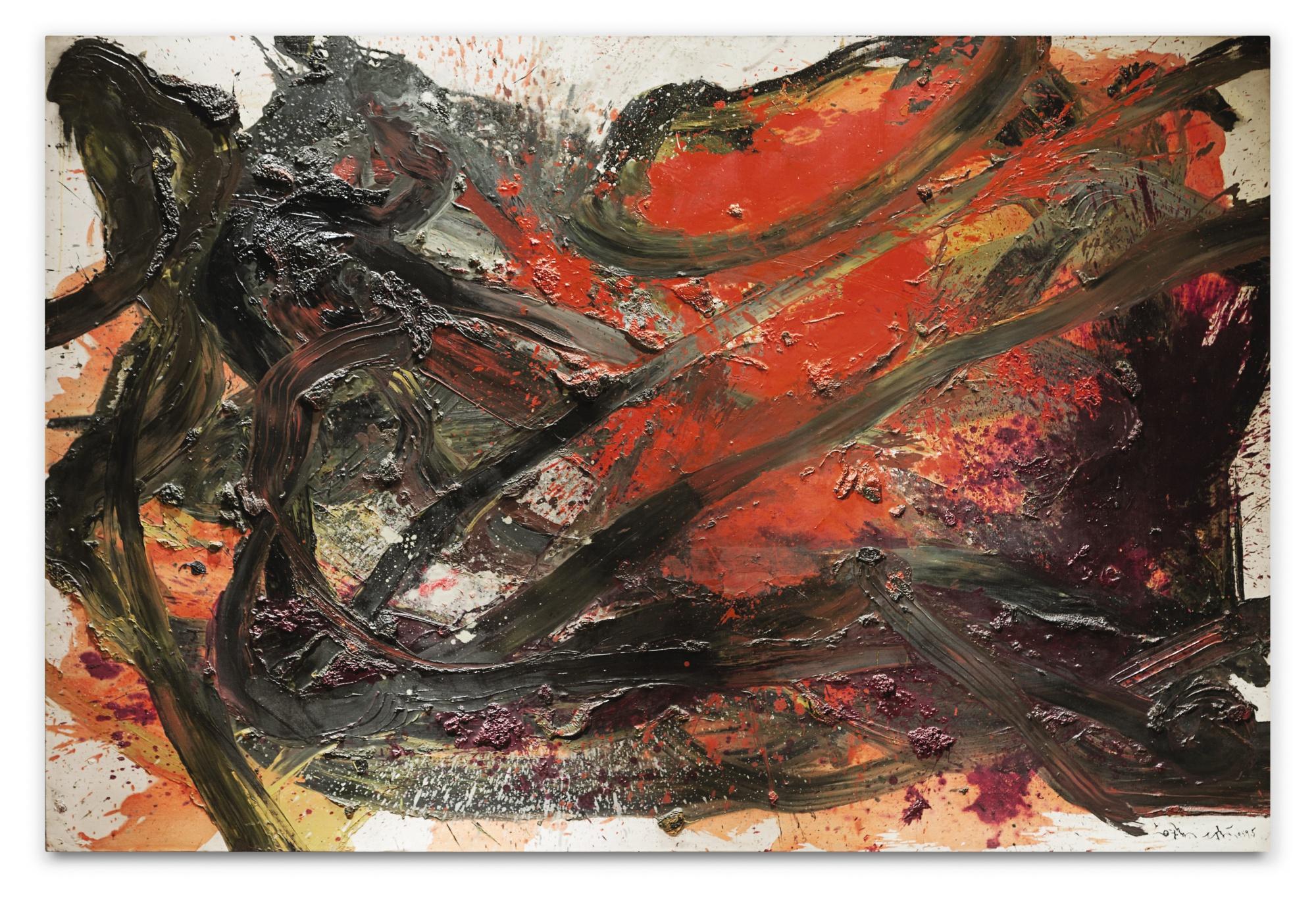 Kazuo Shiraga, Takao, 8 731 400 euros chez Sotheby's en juin 2018, image via Auctionlab News
