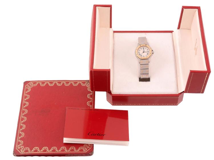 Cartier, Santos, damur. Utrop: 5.300 SEK Dreweatts & Bloomsbury