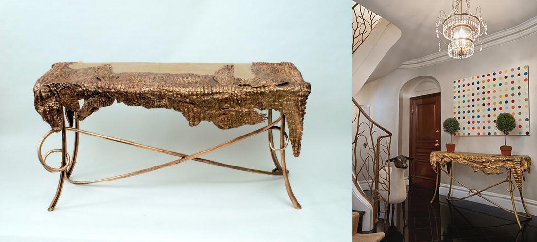 Bureau Crocodile, image droite ©Ben Brown Fine Arts, image gauche ©Sotheby's