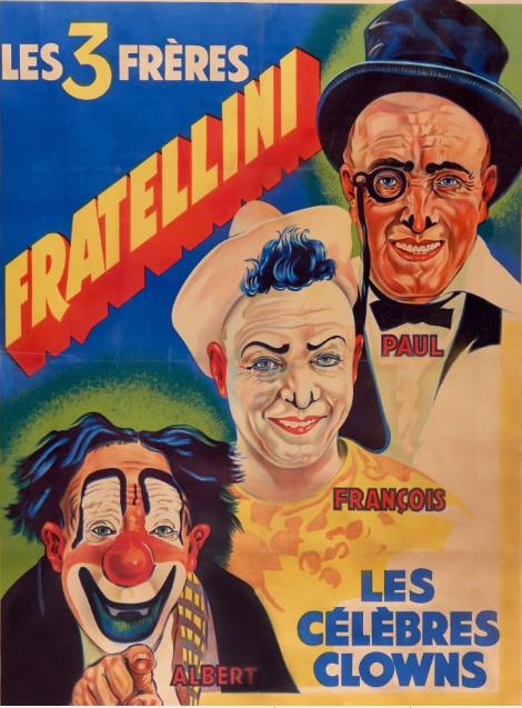 Les 3 Frères Fratellini Les Célèbres Clowns  Circa 1920-1930  Artcurial