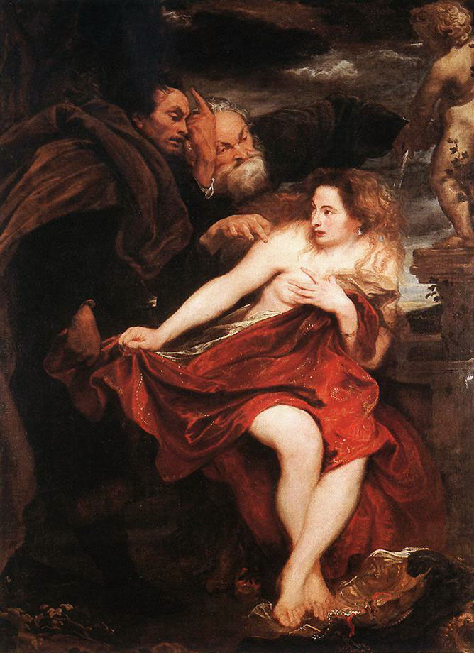 ANTHONIS VAN DYCK - Susanna und die beiden Alten, 1621/22