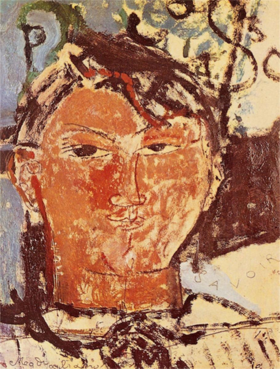 Amadeo Modigliani, Porträtt av Picasso. Bild: pablopicasso.org