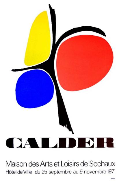 Maison des Arts & Loisirs de Sochaux – Affiche lithographique couleur tirée en 1971 Accademia Fine Art